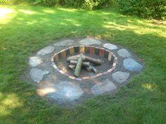 Diy Fire Pit, Fire Pit Backyard, Fun Projects For Kids, Diy Projects, Garden Deco, Stone Art, Garden Inspiration, Outdoor Decor, Gardening