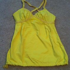 Lululemon  sports bra top size 2 yellow Great condition lulu top  size 2 yellow sold without inserts lululemon athletica Tops