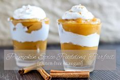 Making it Milk-free | Pumpkin Spice Pudding Parfait {Gluten-free & Vegan}  #pumpkinspice #dairyfree #glutenfree #desserts