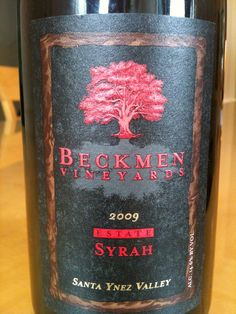Beckmen Vineyards 2009 Estate Syrah Santa Ynez Valley http://vinopete.com/beckmen-vineyards-2009-estate-syrah-santa-ynez-valley/