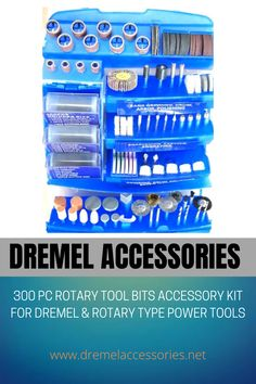 The 300 piece Bit Set has everything you will ever need, to do all your rotary hobby work, Will fit Dremel and most Rotary power Tools Ideal for Cutting, Carving, Sanding, Grinding, Polishing, Buffing, Cleaning, and more! Dremel Accessories, Rotary Tool, Grinding, Power Tools, Carving, Cleaning, Kit, Personalized Items, Type