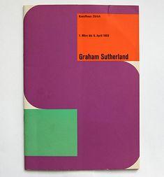 catalogue cover by Herbert Read + René Wehrli (1953)