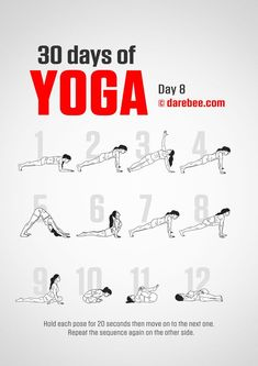 , Yoga For Beginners 30 Day Challenge - Fitness Style. , Yoga For Beginners 30 Day Challenge - Fitness Style 30 Day Yoga Challenge, Workout Challenge, Darbee Workout, Body Challenge, Workout Ideas, Physical Fitness, Yoga Fitness, Fitness Style, Fitness Logo