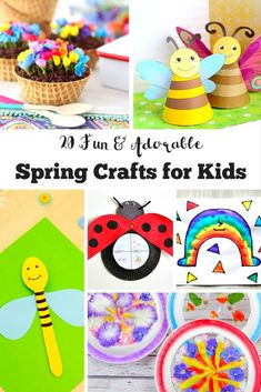 20 Fun and Adorable Spring Crafts for Kids. Can you feel Spring in the air yet? A fantastic selection of adorable spring crafts for kids. Celebrate the season with these fab DIY kids crafts and activities. Spring Crafts For Kids, Diy Crafts For Kids, Crafts To Sell, Kids Diy, 4 Kids, Toddler Crafts, Fun Crafts, Spring Activities, Activities For Kids