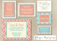 DIY Printable Wedding Invitation: The Lisa. $60.00, via Etsy.