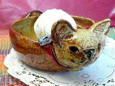 CAT YARN BOWL by CleverClay on Etsy