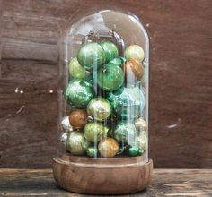 Glass Cloche With Wooden Base | Glass Cloche Dome