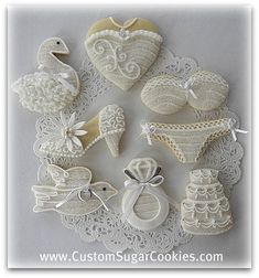 June Bride Cookies! | Some of the cookies I made for a Brida… | Flickr