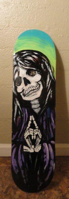 Hand Painted La Santisima Muerte