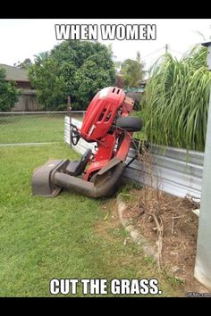 My Neighbor Loves to Show Off His Lawn Mower and Bikini ...