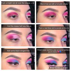 Colourful eye makeup shared by ♌Fay Flitzgerard♌ Makeup Eye Looks, Eye Makeup Steps, Eyeshadow Looks, Eyeshadow Makeup, Pastel Eyeshadow, Smoky Eyeshadow, Orange Eyeshadow, Simple Eyeshadow, Natural Eyeshadow