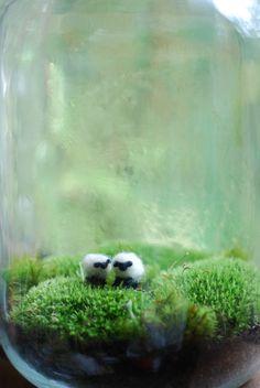 irish landscape with wee wool sheep terrarium. $48.00, via Etsy.