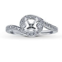 I love this setting so different! 14K White Gold ¼ Carat t.w. Diamond Ring Setting