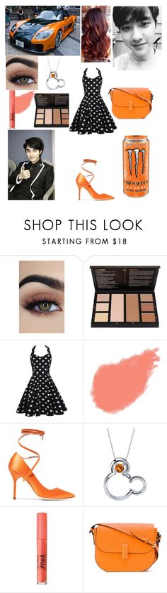"""Car meet with Kyungsoo (D.O. From EXO)"" by mimiisabooknerd ❤ liked on Polyvore featuring Bobbi Brown Cosmetics, Vetements, Disney, Too Faced Cosmetics and Valextra"