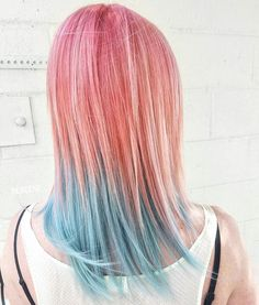 Pink & Blue Ombre Hair