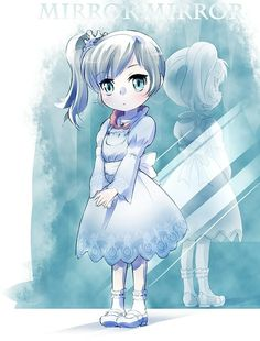 Little Weiss Schnee Anime Chibi, Kawaii Anime, Manga Anime, Anime Art, Rwby Fanart, Rwby Weiss, Rwby Characters, Rwby Red, Team Rwby