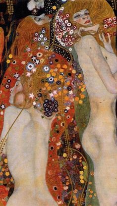 Water Serpents II, by Gustav Klimt. I think I have 3 Klimt books, love the expressive creativity and how he push the boundaries of art and design. Gustav Klimt, Klimt Art, Art Nouveau, Giacometti, Art Sculpture, Art Moderne, Japanese Art, Oeuvre D'art, Painting & Drawing