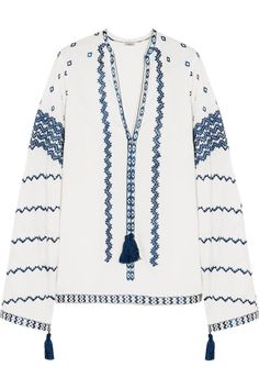Talitha Sana Embroidered Cotton-Voile Tunic, $645; net-a-porter.com     - ELLE.com