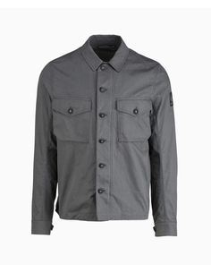 Belstaff - Sampson Badge Arm Overshirt - Grey