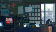 Post with 2486 votes and 155726 views. Tagged with japan, pixel art, illustration, illustrationstation, Shared by IllustrationStation. Pixel art by (Toyoi Yuuta) Pixel Art Gif, Anime Pixel Art, Vaporwave, Kawai Japan, Pixel Art Background, Anime Gifs, 8 Bit Art, Pixel Animation, Gif Animé
