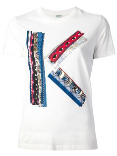 abf27781 Kenzo Kenzo Ribbon Logo T-Shirt in White | Lyst Ribbon Logo, Pant Shirt