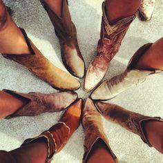 Bridesmaids photograph; cowboy boots for a country wedding! @Brittany Horton Horton Horton Horton Horton Ratliff