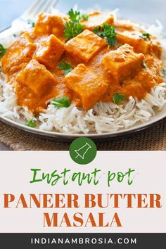 Paneer butter masala is soft cubes of cottage cheese in a finger-licking', nutty-buttery sauce! Cooks easily in the instant pot and is a dream to eat! Vegetarian Recipes Easy, Vegetable Recipes, Beef Recipes, Healthy Recipes, Cooker Recipes, Easy Recipes, Indian Paneer Recipes, Indian Food Recipes, Paneer Makhani