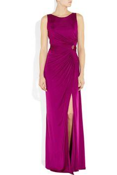 ROBERTO CAVALLI Ruched silk-jersey gown $1,665