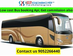 I2space technologies provides Bus Ticket Booking API at only 10, 000Rs, Get 7% commission also. With the help of our online bus booking API you can book any bus ticket between any cities. These technology driven API based bus services are quick and easy. For more details visit our website http://www.i2space.com/travel-booking-software.html