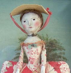 I began making dollies to play with when I was a little girl growing up on my grandfather's farm, but the Deerfield Farmhouse dolls came to life soon after ...