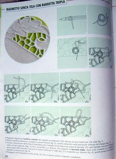 "Photo from album ""Учимся вышивать"" on Yandex. Bead Embroidery Patterns, Hardanger Embroidery, Vintage Embroidery, Cross Stitch Embroidery, Hand Embroidery, Pillowcase Pattern, Tatting Jewelry, Point Lace, Cut Work"
