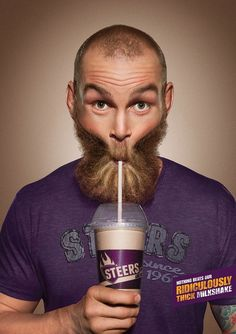 Advertising Campaign : Steers: Ridiculously Thick Milkshake, 2 Advertising Campaign Inspiration Steers: Ridiculously Thick Milkshake, 2 Advertisement Description Steers: Ridiculously Thick Milkshake, 2 Sharing is caring ! Clever Advertising, Print Advertising, Advertising Campaign, Print Ads, Marketing And Advertising, Ad Of The World, Ads Creative, Creative Director, Digital Campaign