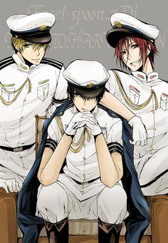 Free! ~~ Sexy threesome in uniform :: MaRinKa :: Makoto, Rin, Haruka