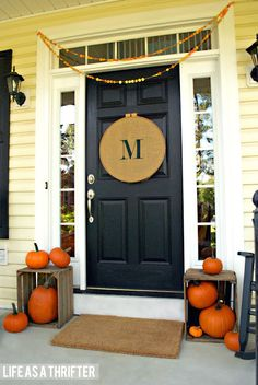 Decorate Your Entryway and Foyer For Fall - Blissfully Domestic