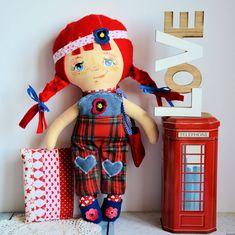 Lala Zuzia ( 42 cm ) zestaw ubranek plus poduszka Stuffed Toy, Dolls, Children, Handmade, Baby Dolls, Young Children, Boys, Hand Made, Puppet