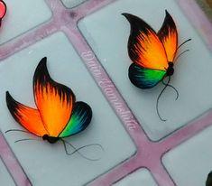 Bridal Nails Designs, Gel Nail Designs, Diamond Nail Art, Butterfly Nail Art, Animal Nail Art, Butterfly Pictures, Toe Nail Art, Nail Art Hacks, Watercolor Design