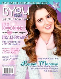 Laura Marano Beautiful On The January/February 2014 Issue Of BYOU Magazine