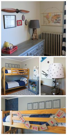 This Vintage Airplane Bedroom Is Filled With Easy And Budget Friendly DIY  Details That Will