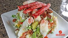 Chilean King Crab COBB salad is one of the many reicpes perfect for the holidays at www.seatechcorp.com/recipes.html
