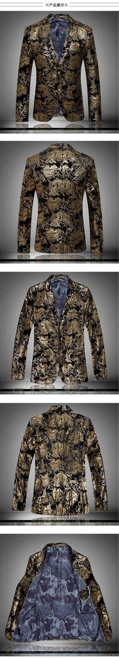 2016 male business suit fashion slim fit local tyrants gold /Men quality leisure single breasted jacket/Men's coat/BLAZERS-in Blazers from Men's Clothing & Accessories on Aliexpress.com | Alibaba Group