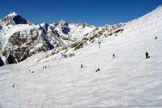 "Caucasus. Karachay-Cherkessia. Dombay. On Mount Musa Achitara. ======================== Склон в месте так называемой ""Югославской"" канатки."