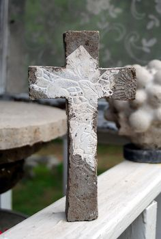 concrete cross: Light Comes In via Etsy