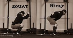 I was kindly asked for a side by side Squat vs Hinge pic. Ask nicely and (typically) you shall receive. Have a great weekend my friends! I'm going to unplug. #SokolStrong #StrongFirst #StrengthCures
