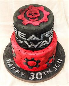 Gears of War Cake...gritty and grungy!