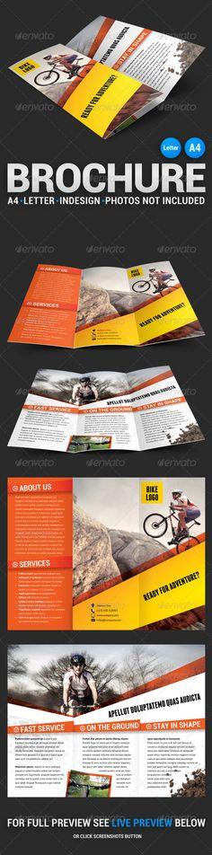 Bike Tri-fold Brochure #template #layout