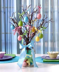 Lighted Mason Jar Easter Egg Tree Easter Egg Ornaments Table  Holiday Home Decor | Home & Garden, Holiday & Seasonal Décor, Easter & Spring | eBay!