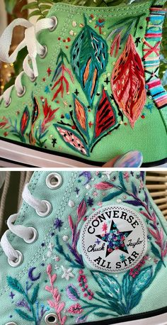 Embroidery on shoes