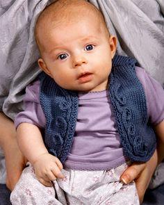 Strik selv: Blå babyvest