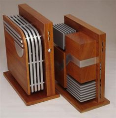 """Inspired by the streamline, machine age aesthetic, Jeffrey Stephenson's handmade computers made of mahogany and aluminum are a sight to behold."""