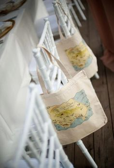 Boca Grande Florida Tote Bags  set of 10 by LHCalligraphy on Etsy, $150.00